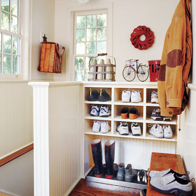 small space mudroom, via This Old House
