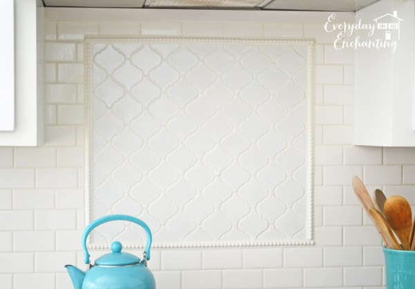 subway tile and arabesque backsplash, Everyday Enchanting on Remodelaholic