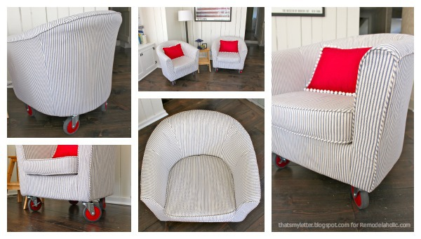Excellent Remodelaholic How To Reupholster A Tub Chair Gmtry Best Dining Table And Chair Ideas Images Gmtryco