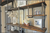 industrial PVC pipe shelving