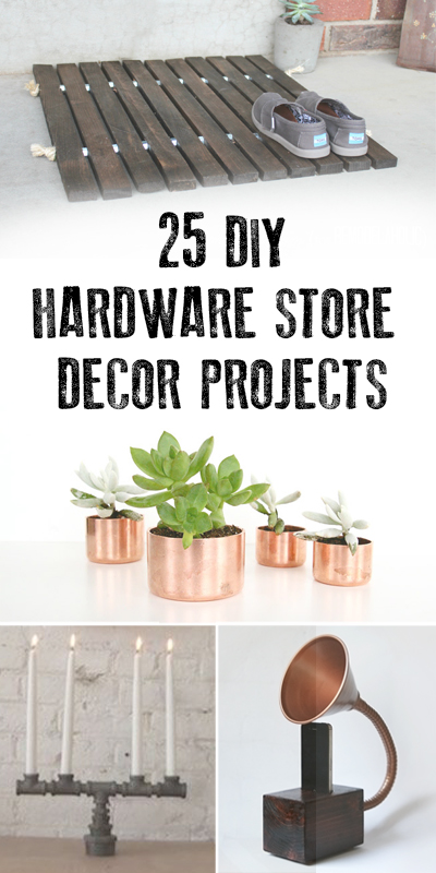 DIY Hardware Store Decor Projects | Remodelaholic.com