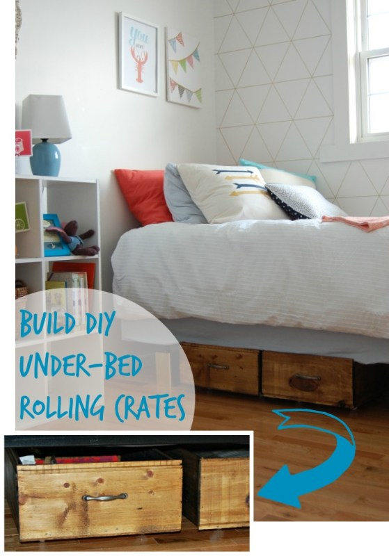 Build DIY Under-Bed Rolling Crates, DIY Passion on Remodelaholic.com #storage #bedroom