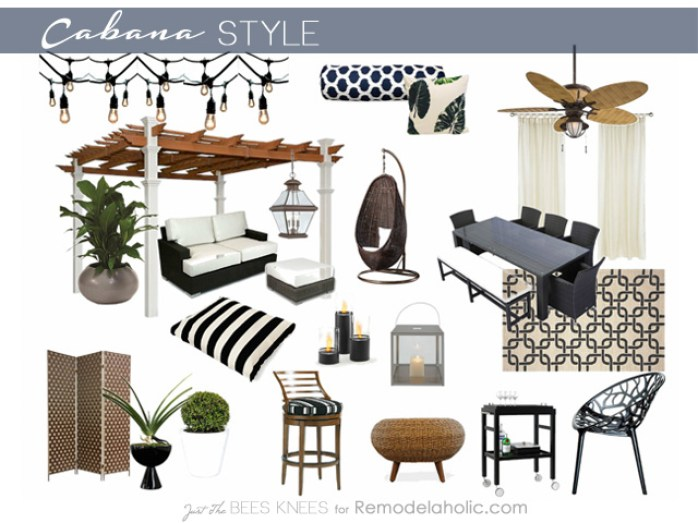 Cabana Style on Remodelaholic.com -- Create resort-style comfort in your backyard!