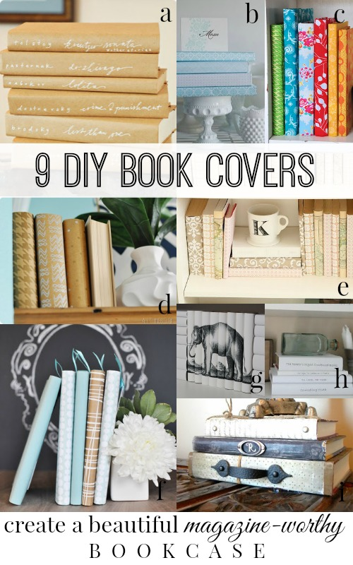 DIY Book Covers via Remodelaholic.com