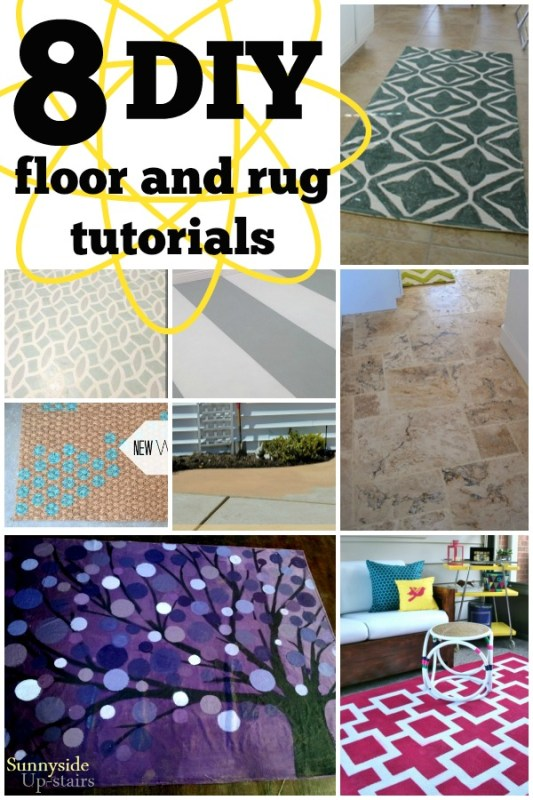 DIY Floor and Rug Tutorials via Remodelaholic.com #flooring #diy