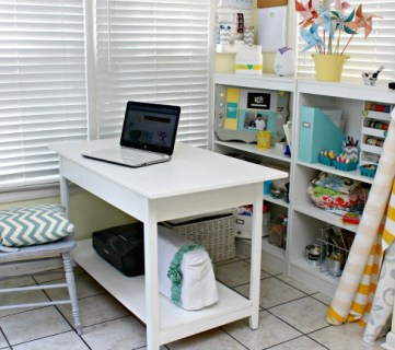 Small Desk Turned Large Workspace