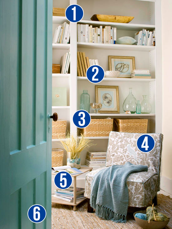 Get This Look: 6 Tips for a Relaxing Reading Nook from Remodelaholic.com #getthislook #library