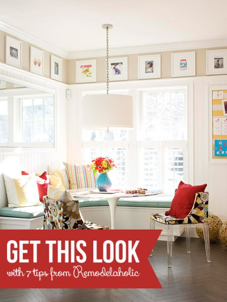 Get This Look - Corner Banquette Art Gallery