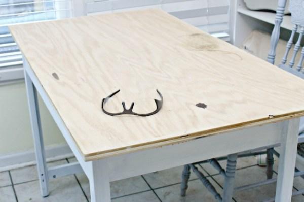 Plywood desktop