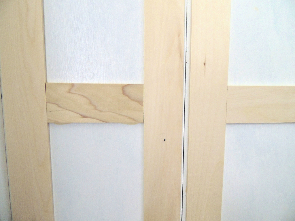 Remodelaholic bi fold to paneled french door closet makeover how to update flat closet doors to paneled french doors 2 wife in progress on rubansaba