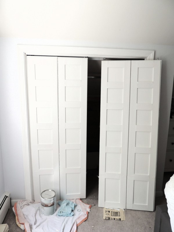 how to update flat closet doors to paneled french doors 5, Wife in Progress on Remodelaholic