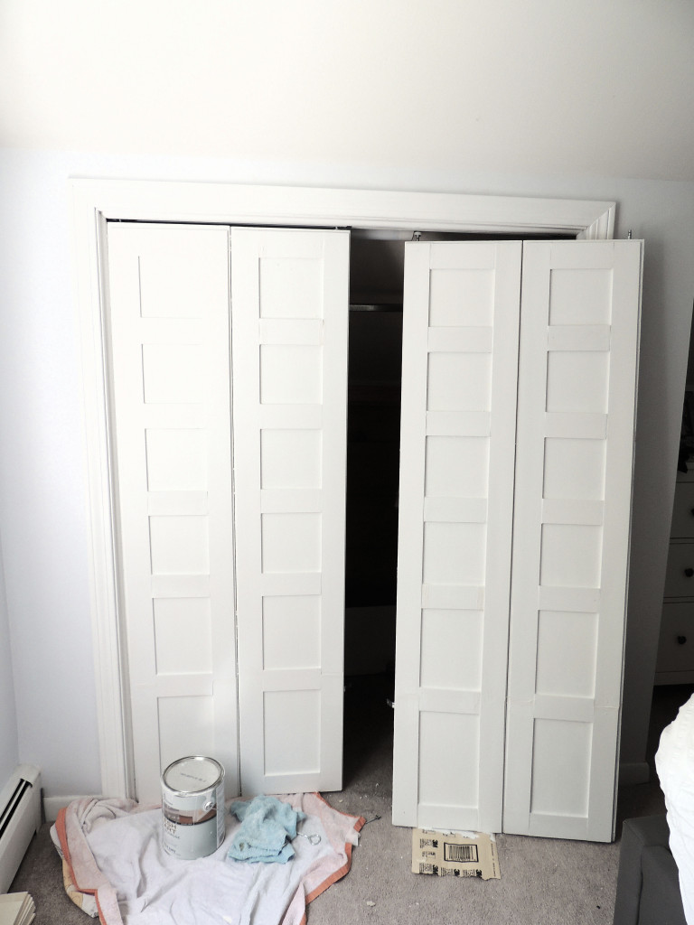 How To Update Flat Closet Doors To Paneled French Doors 5, Wife In Progress  On