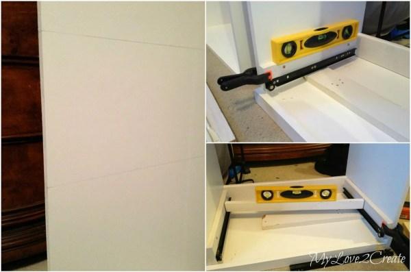 installing drawer slides in master closet, My Love 2 Create on Remodelaholic