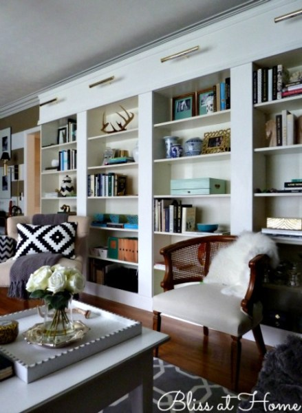 library wall, bliss at home
