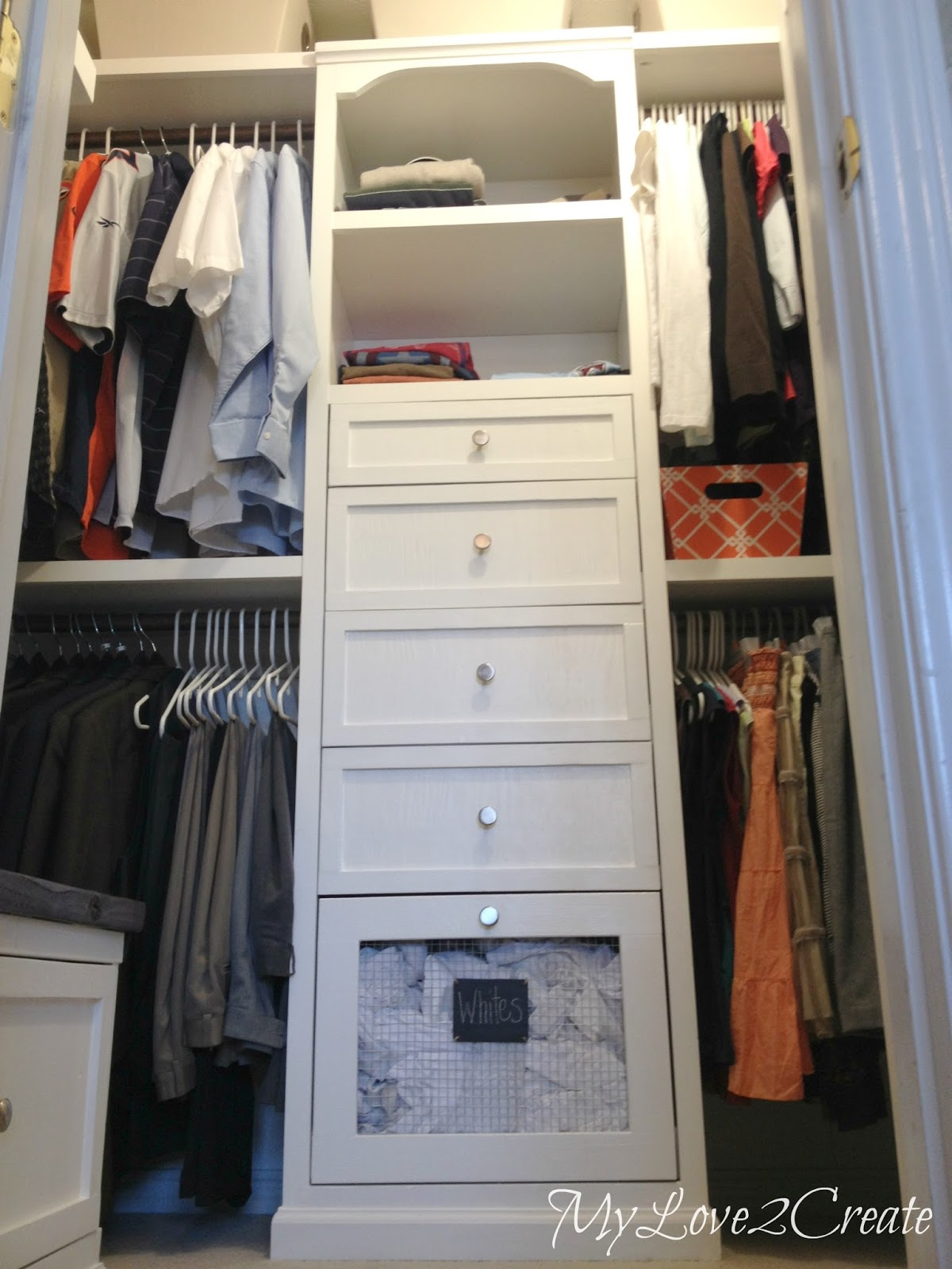Wonderful Master Closet Makeover With Laundry Hampers And Storage Tower, My Love 2  Create On Remodelaholic