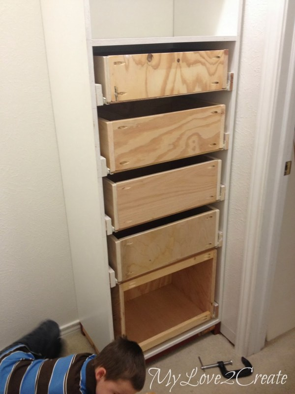 master closet tower with drawers, My Love 2 Create on Remodelaholic