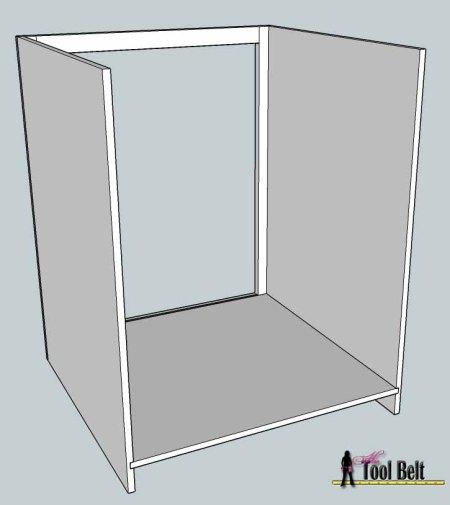media center building plans - cabinets assembly 1, Her Tool Belt on Remodelaholic