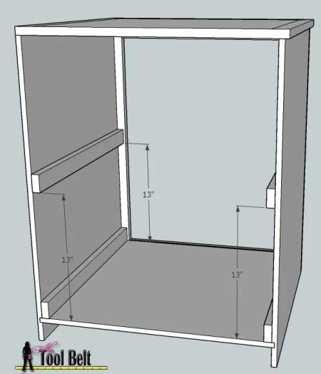 media center building plans - cabinets assembly 3, Her Tool Belt on Remodelaholic
