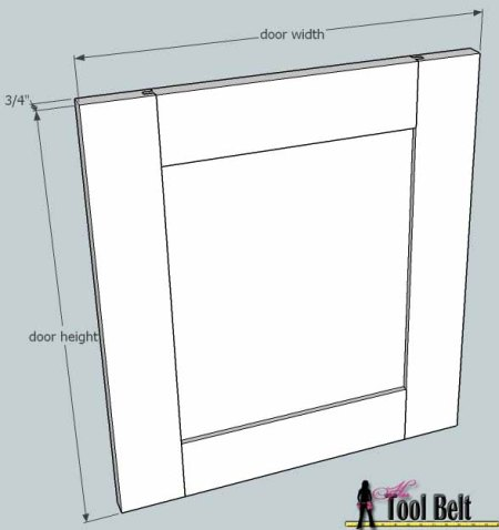media center building plans - doors assembly 1, Her Tool Belt on Remodelaholic