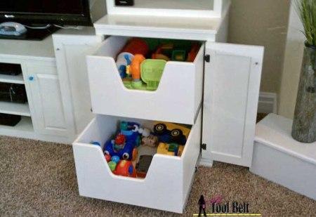 media center cabinet drawers, Her Tool Belt on Remodelaholic