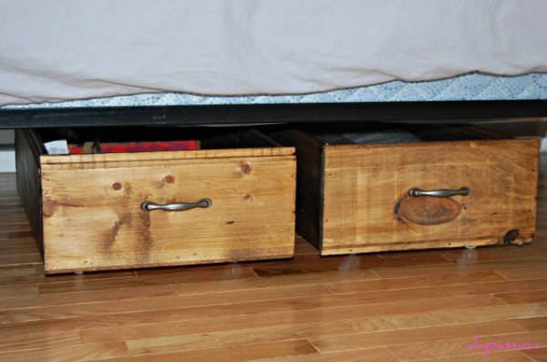 rolling underbed storage crates tutorial, DIY Passion on Remodelaholic