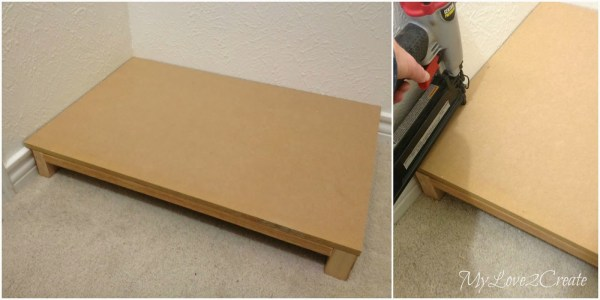 top for base of bench in master closet, My Love 2 Create on Remodelaholic