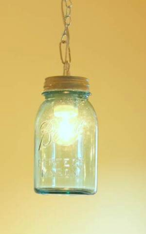 vintage canning jar pendant light