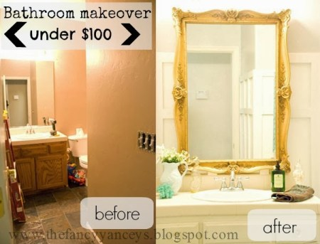 $100 bathroom before and after