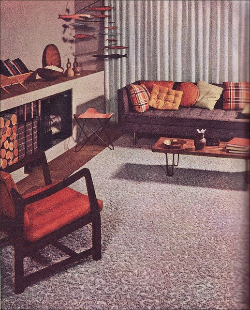 1952 Mid Century Modern Living Room by American Vintage Home on Flickr