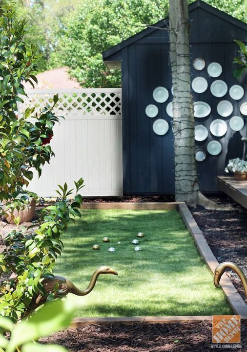 DIY Bocce Ball Court
