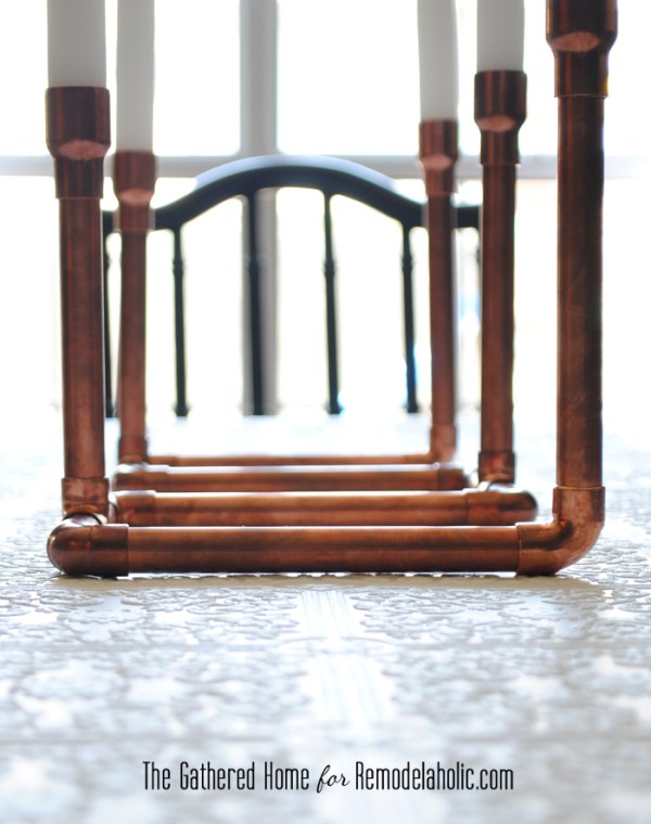 DIY Copper Pipe Candelabra by The Gathered Home for Remodelaholic.com