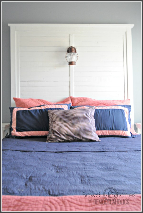 How to Build a Tall Slat Headboard | Sawdust2Stitches on Remodelaholic.com #diy #buildingplan