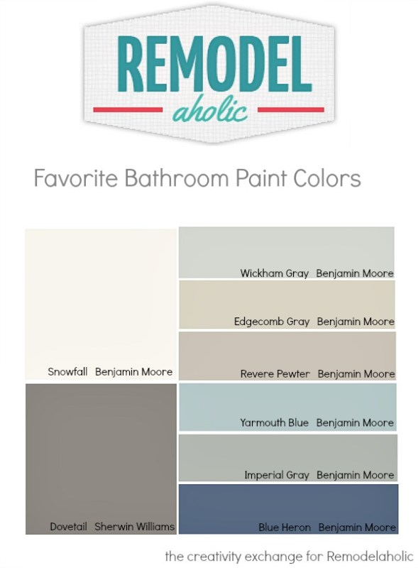 Tips and Tricks for Choosing Bathroom Paint Colors on Remodelaholic.com #paintpalette #colors