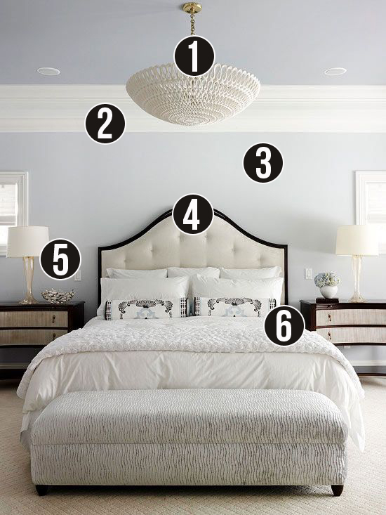 Get This Look - 6 Tips for a Calm Gray and White Bedroom on Remodelaholic.com #getthislook