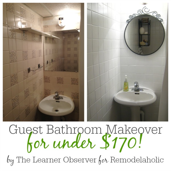 Guest Bathroom Makeover for under $170 by The Learner Observer for Remodelaholic.com.jpg