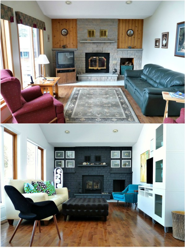 Dramatic Painted Fireplace Makeover + Tutorial | Dans le Lakehouse on Remodelaholic.com