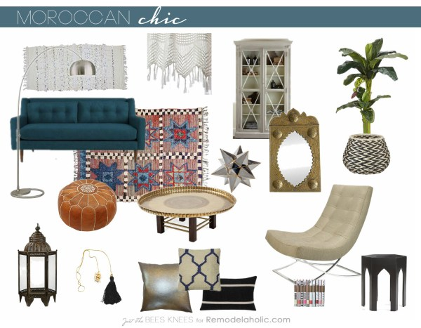 Moroccan Chic style on Remodelaholic.com