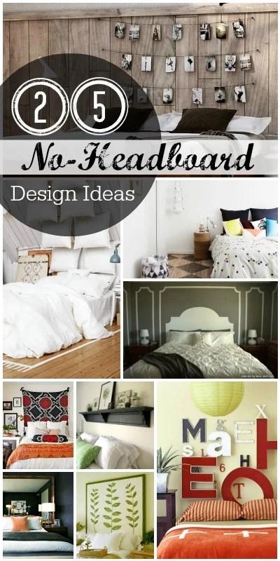 No Headboard Decorating Ideas
