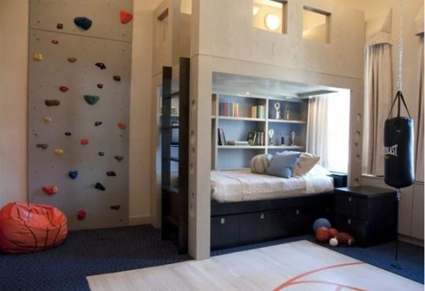 built-in-bed-gym-bedroom-home-designing