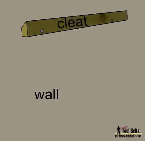 DIY headboard cleat on wall on Remodelaholic.com