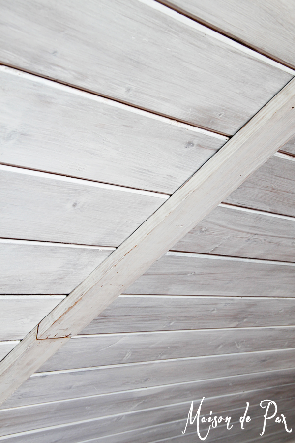 How to match old whitewashed wood planks