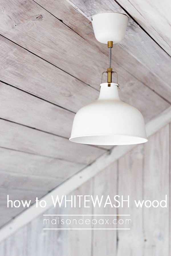 how to whitewash wood for a plank wall maison de pax on remodelaholiccom - White Washed Wood Ceilings