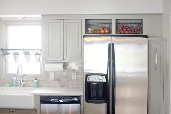Remodelaholic  Remodeled Kitchen with Refinished Hardwood
