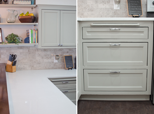 quartz countertops and painted cabinets, Ramblings from the Burbs on Remodelaholic