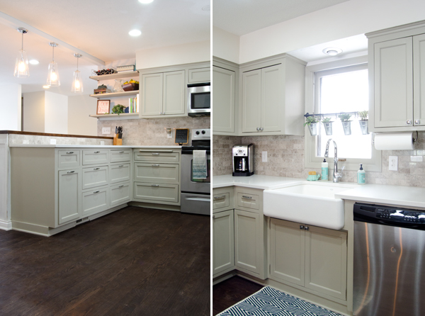 refinished wood floor in remodeled kitchen, Ramblings from the Burbs on Remodelaholic