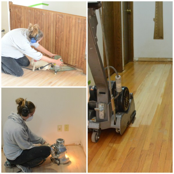 refinishing kitchen hardwood flooring, Ramblings from the Burbs on Remodelaholic