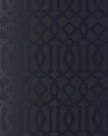 schumacher wallpaper in black via Remodelaholic.com