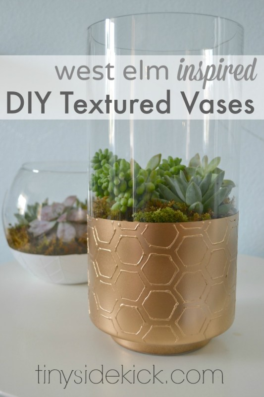 textured glass vase planters