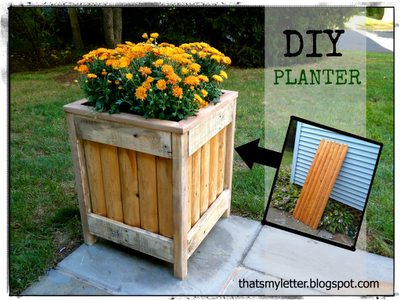 wood planter from a fence piece