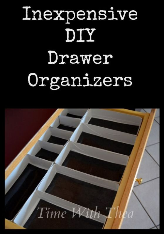 DIY kitchen drawer organizers
